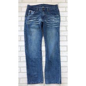 Jordan Craig Distressed Flap Pocket Mens Jeans